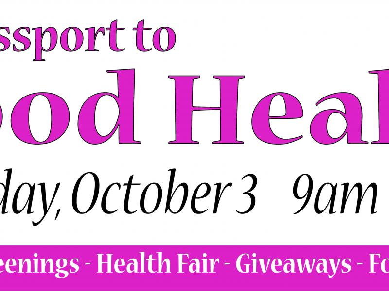 """Senior Health Fair Health Fair"""" This October"""