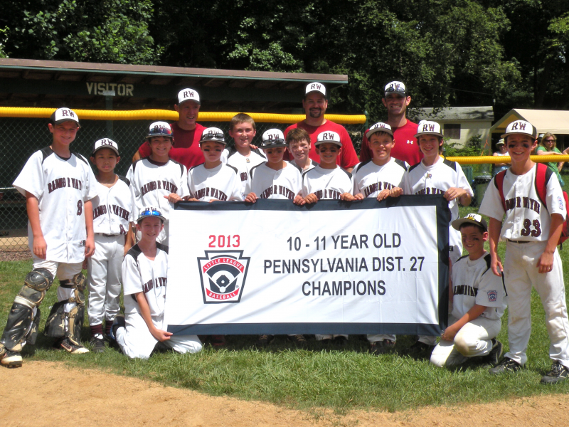 Radnor-Wayne Celebrates First PA District 27 Little League Championship in 33 Years