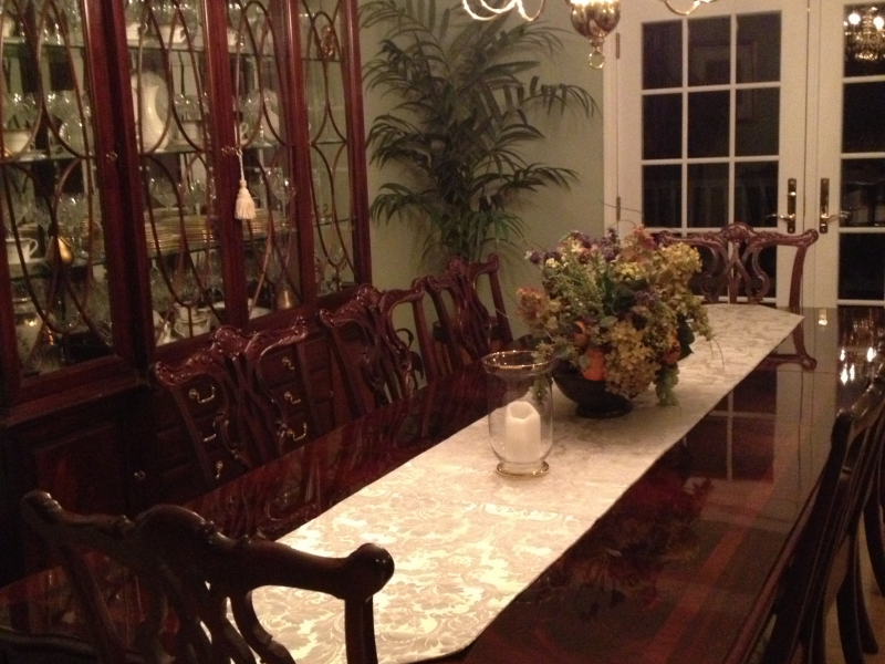 thomasville mahogany dining room set patch