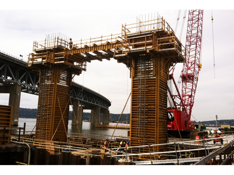 New York Cement Plants : Tappan zee bridge contractor shuts down floating concrete