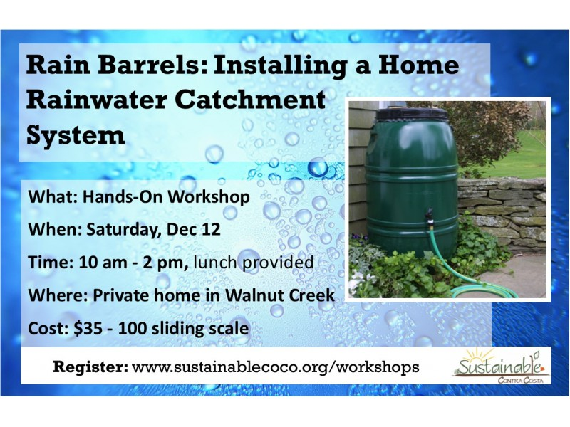 Rain Barrels Installing A Home Rainwater Catchment System