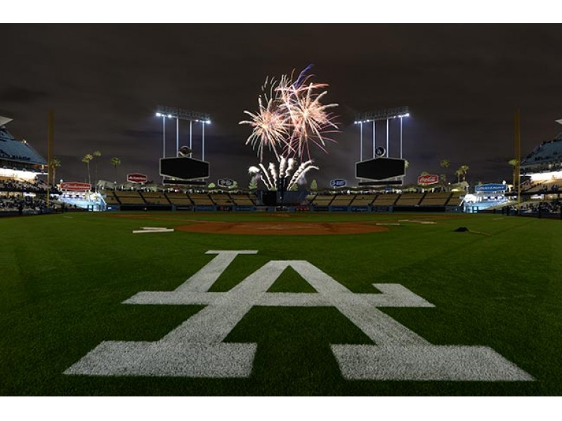 Fireworks Show At Dodgers Stadium Tonight North