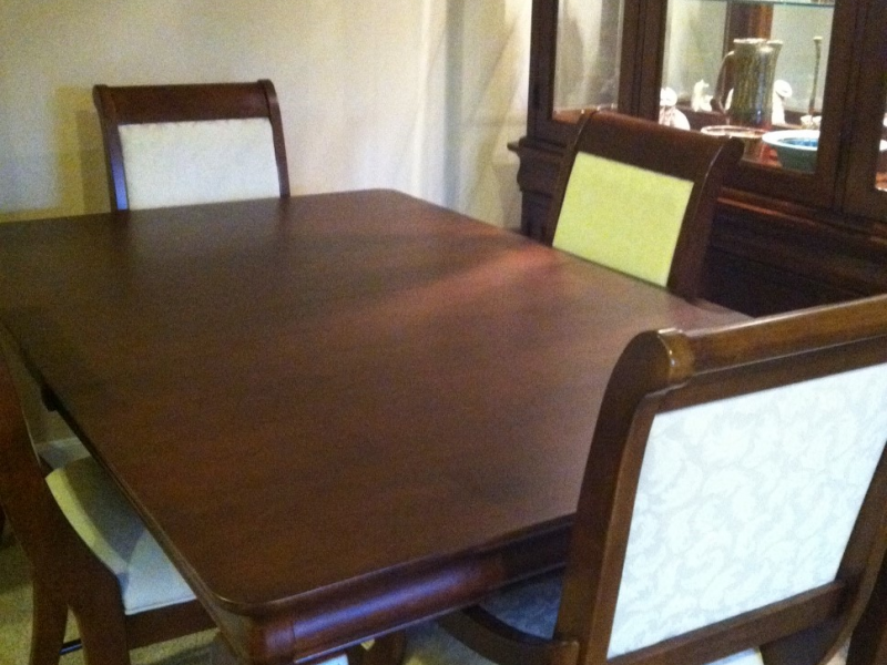 For sale solid maple kincaid formal dining room set 6 for Formal dining room chairs for sale