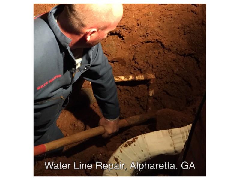 Sewage Pipe Replacement Roswell Ga : Water line repair alpharetta ga patch