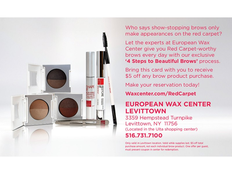 European wax center levittown presents red carpet brows east meadow ny patch for European wax center garden city