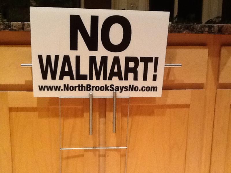 no walmart yard sign