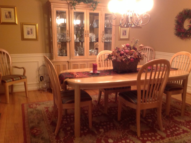 bernhardt dining room set | 8 piece Bernhardt Dining Room Set and China Hutch ...