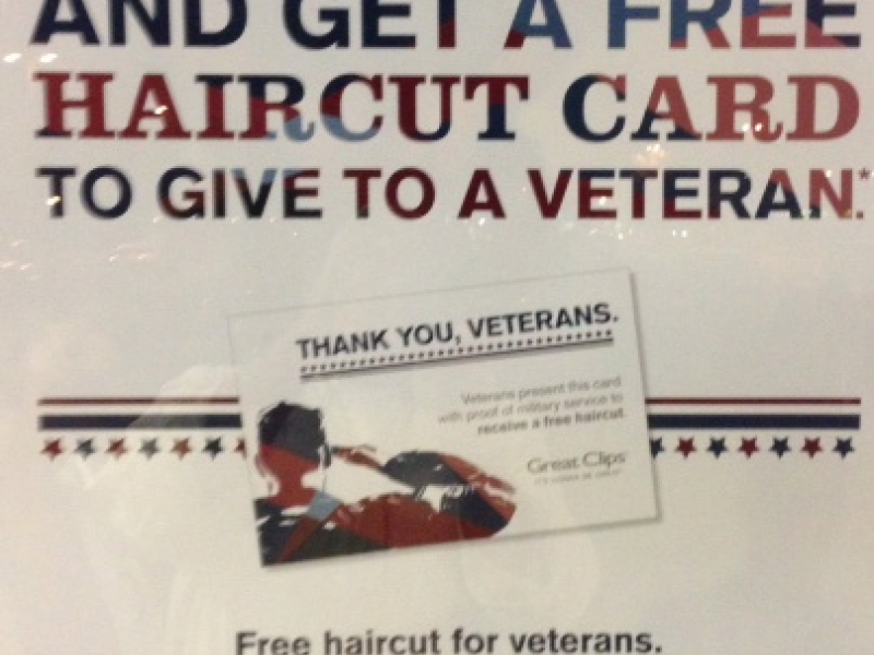 Veterans Day Haircut Free Haircuts For Veterans on