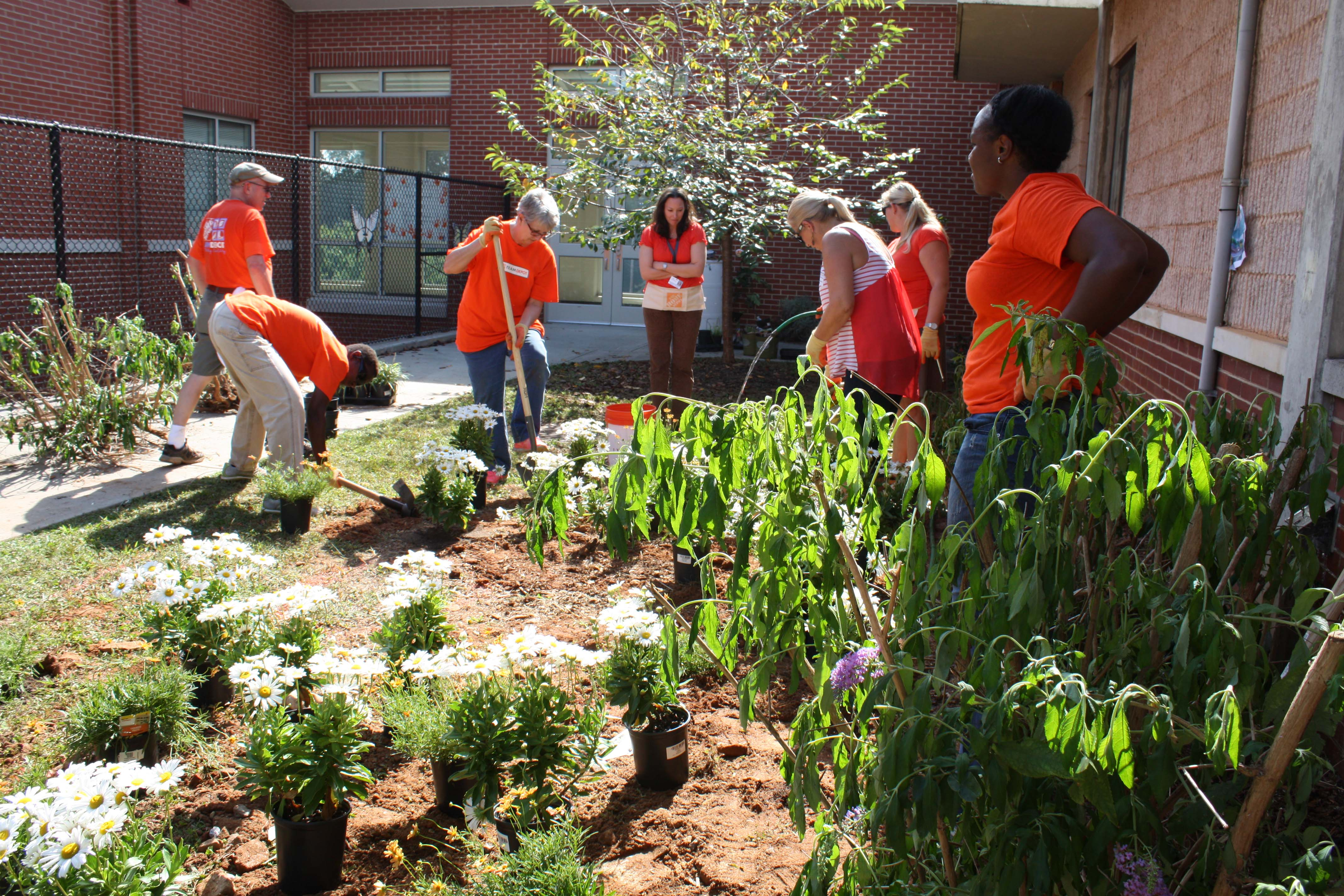 Home Depot Builds Butterfly Garden At Roswell North