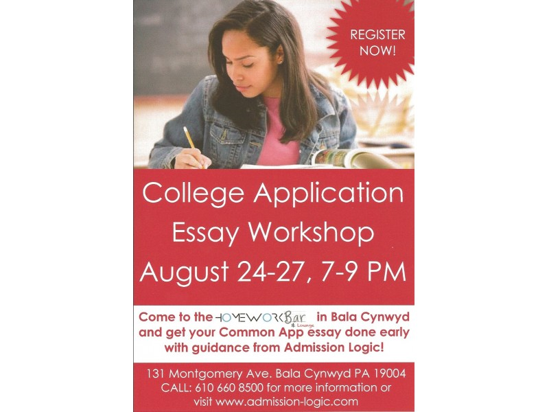 college application essay workshop