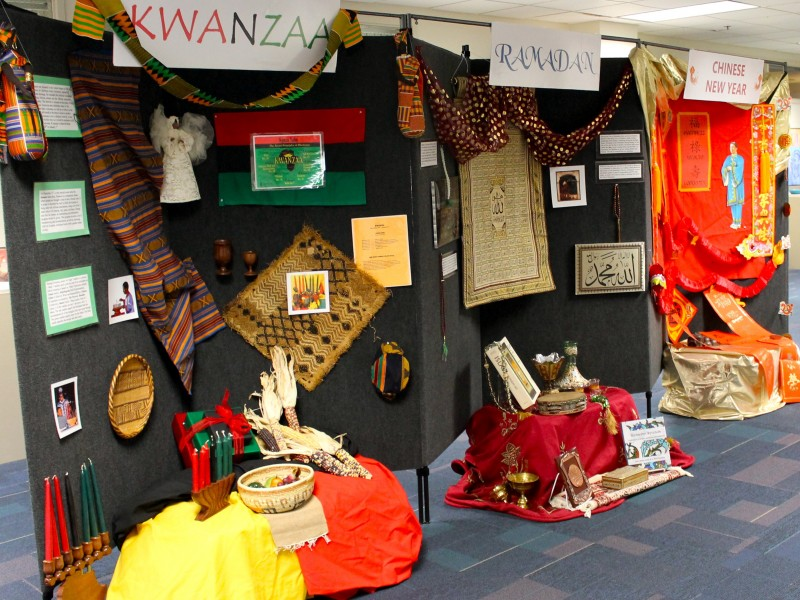 ... School Celebrates Holidays Around the World with Multicultural Display