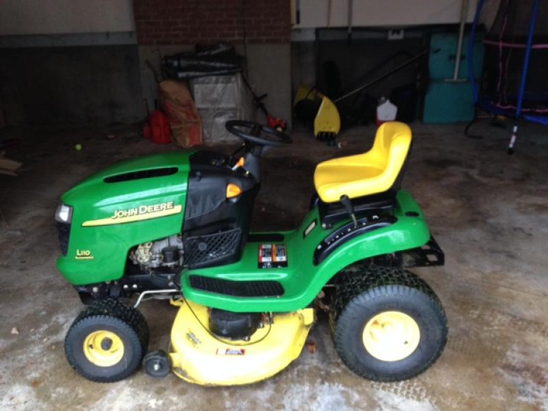 John Deere L110 For Sale Including Snow Plow Attachment