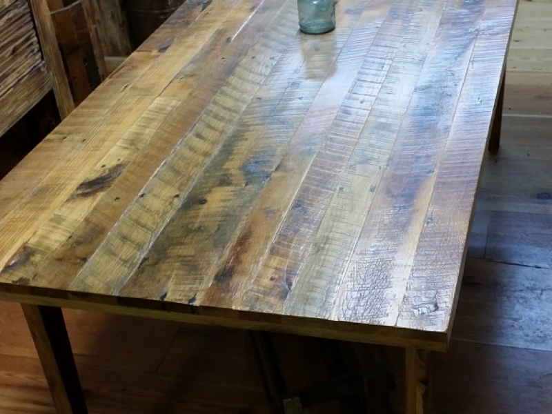 Reclaimed barn wood decor ceiling beams mantels wide for How to make a wooden table at home