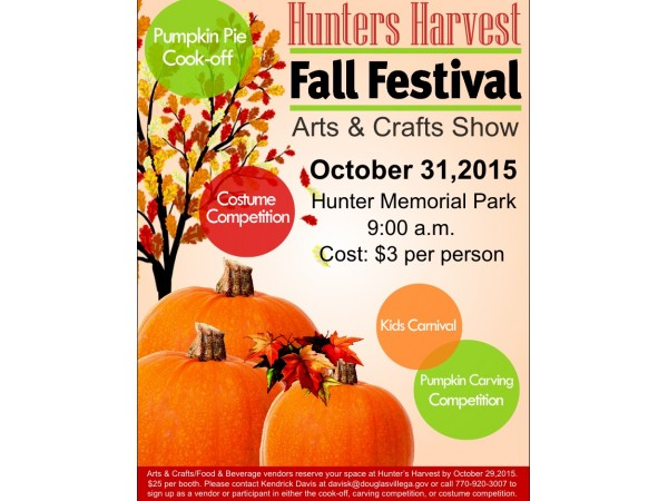 Hunters harvest fall festival and arts and crafts show for Arts and crafts festivals in georgia