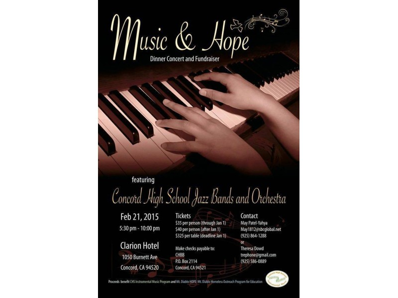 Coming Up: Concord High School Instrumental Music and HOPE...