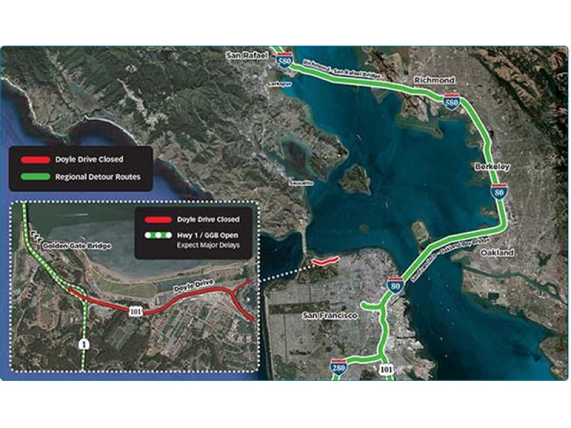 Advisory road closure to clog golden gate traffic