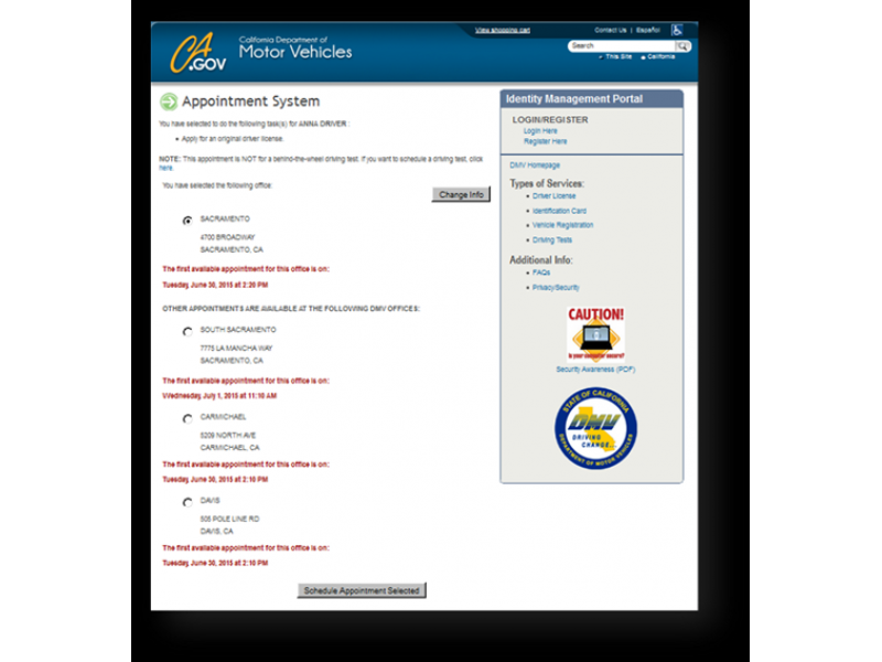 how to make an appointment online for dmv