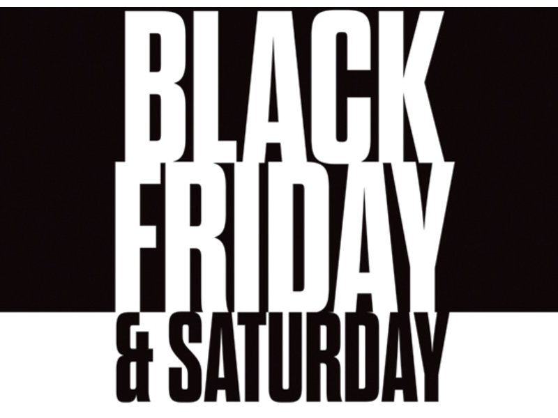 Don't miss the annual Black Friday and Saturday Sale and enter to win ...