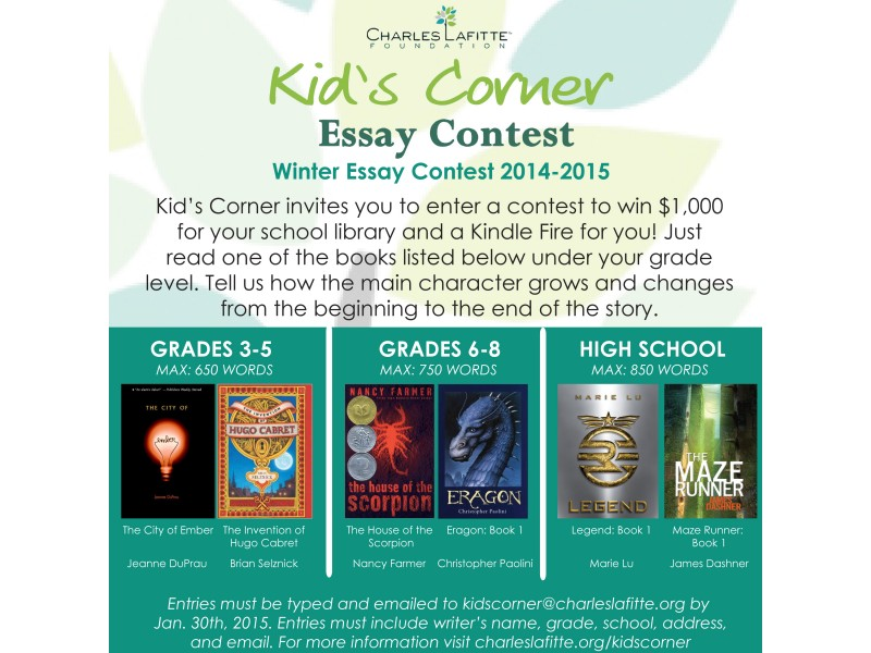 Essay contests for 12