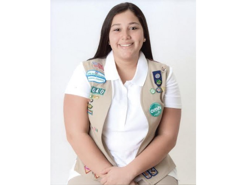 eight east meadow girl scouts awarded highest honor   east