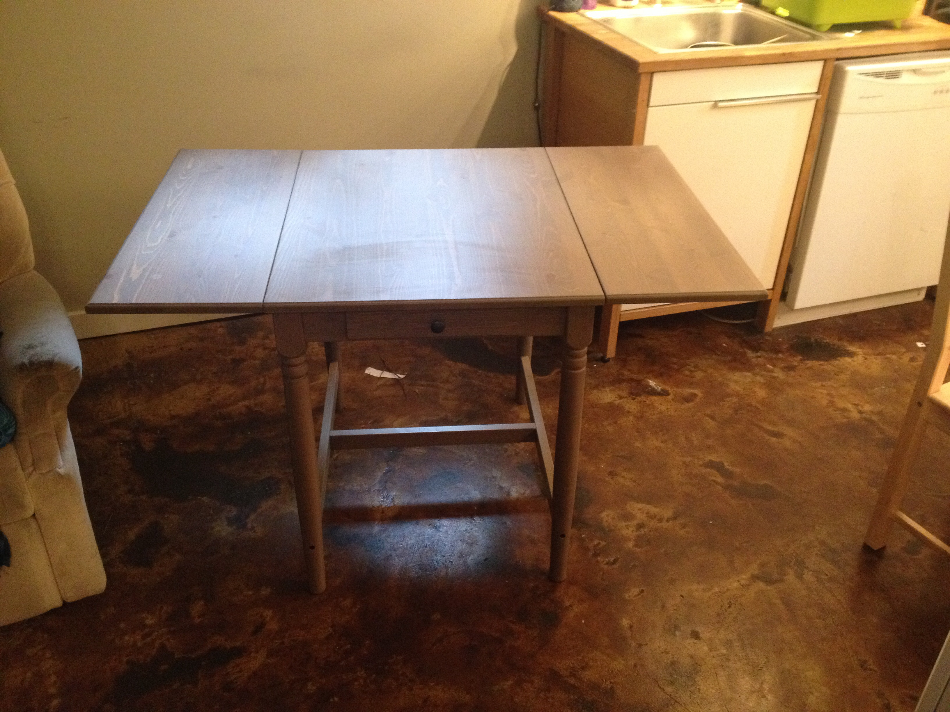 Ikea drop leaf table 100 obo shoreline lake forest park for Table 52 parking