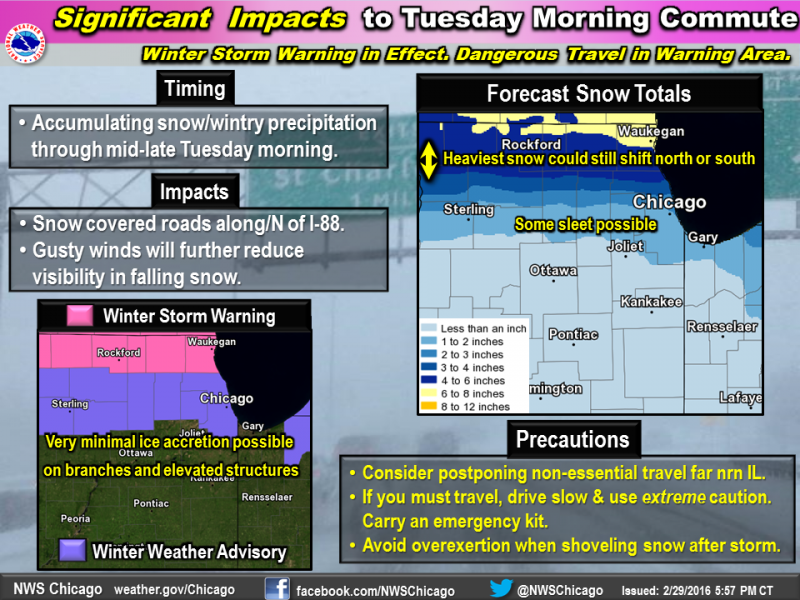 Winter Storm Warning issued for Monday night