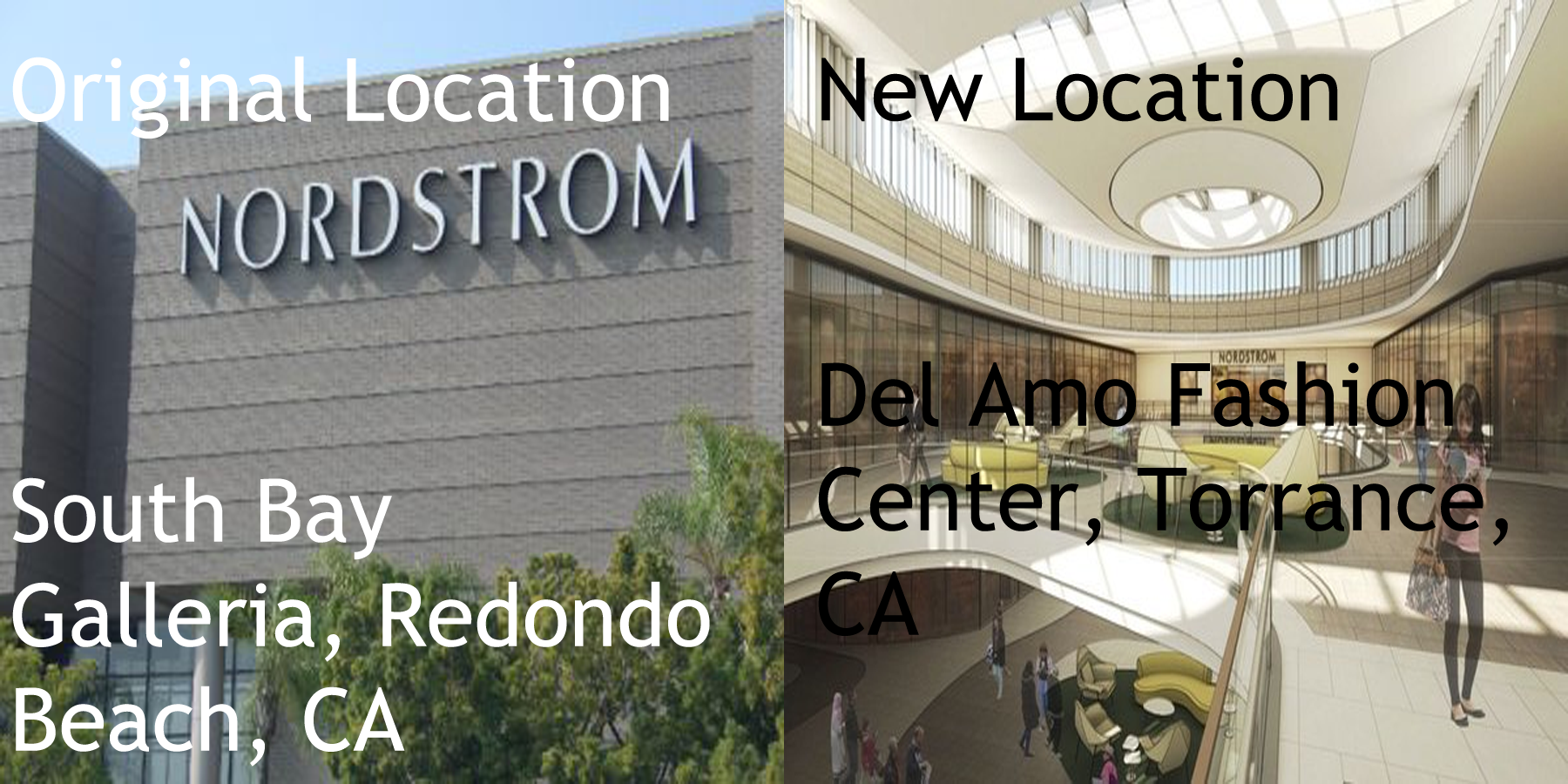 relocating to Del Amo Mall (from its original location from South Bay ...