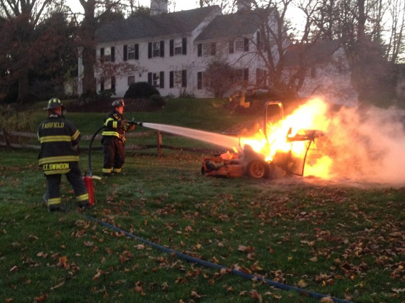 Fairfield Firefighters Knock Down Stubborn Riding Lawn