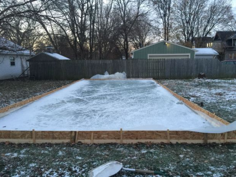 amaze their kids with a cool backyard ice skating rink pun intended