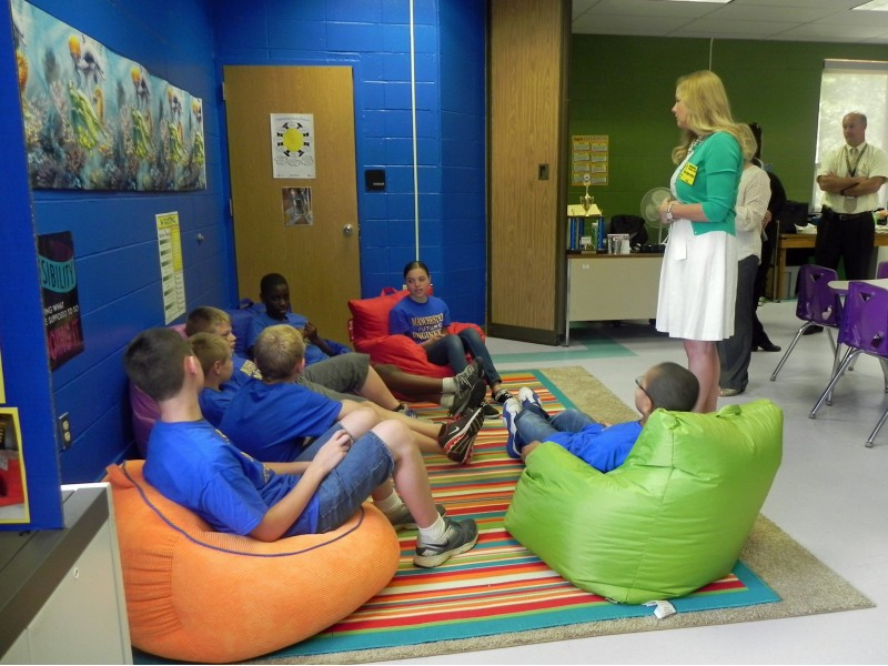Classroom Design Grants ~ Manchester unveils k grant funded stem classroom