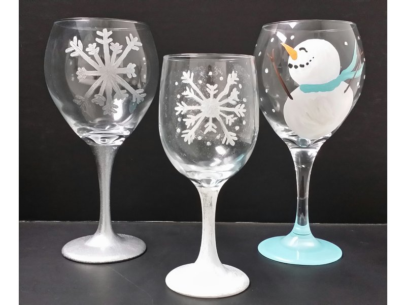 Paint party nh now offers wine glass ornament painting for Christmas glass painting designs