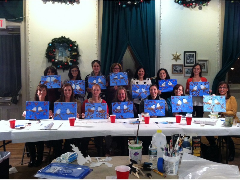 Byob paint in classes start february 10th at mac milford for Painting classes ct