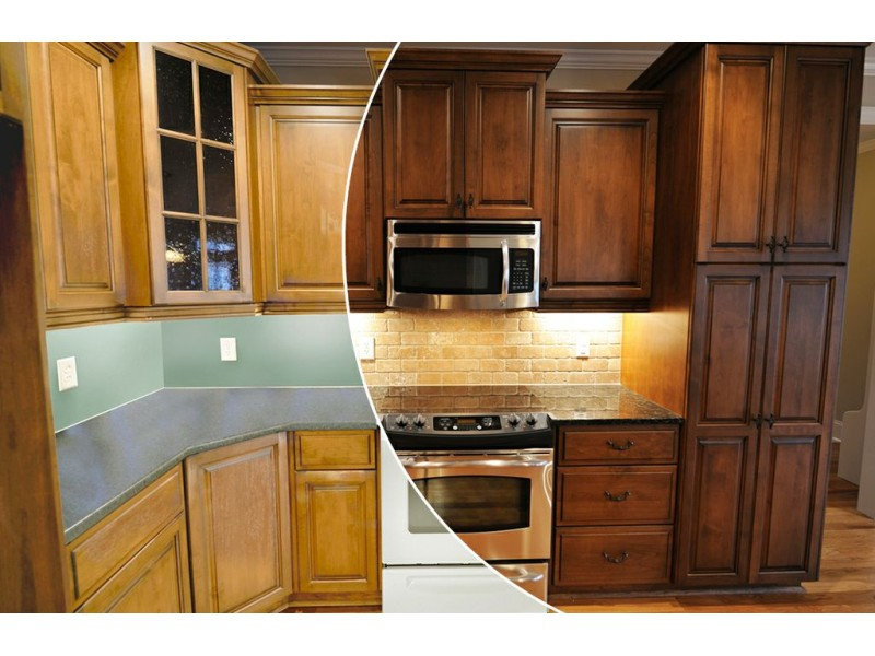 N hance wood renewal revamps kitchen cabinets and floors of for Renew it kitchen cabinets