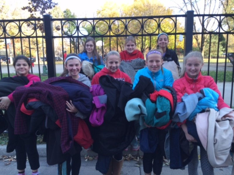 St Cletus Seventh Grade Girl Scouts Collect Over 150