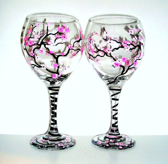 Paint your own wine glass workshop reston va patch Images of painted wine glasses