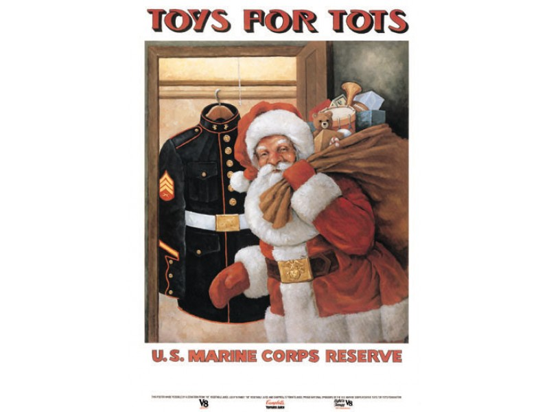 Toys For Tots Washington State : Toys for tots drop box has been placed in fort lee