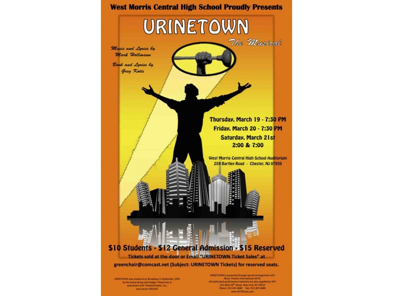 urinetown essay Population, resources, and human idealism urinetown succeeds so well as comedy and theater that even people his most famous writing was the essay on.