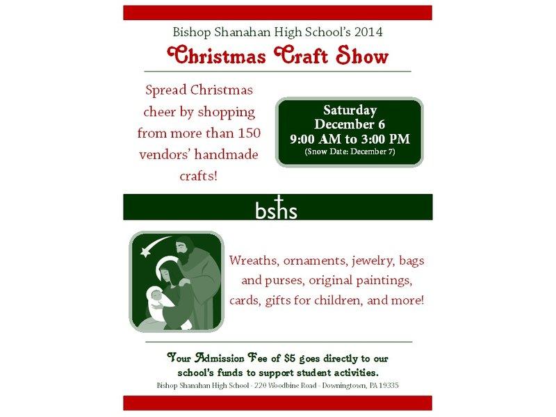 Bishop Shanahan Craft Show