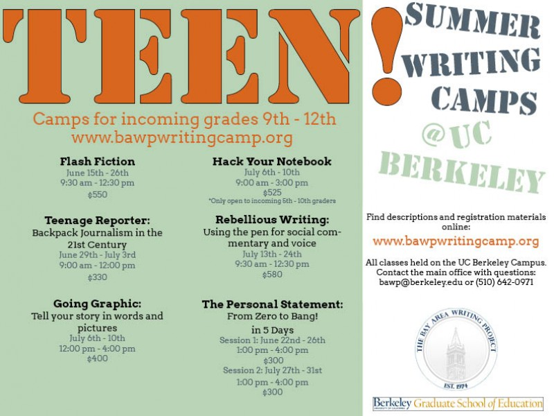 Teen Summer Writing Programs 45