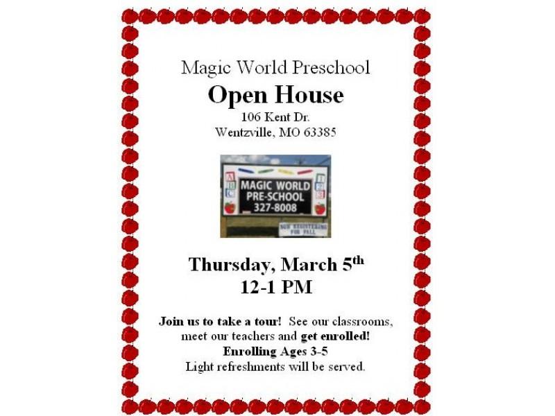 preschools in wentzville mo magic world preschool open house wentzville mo patch 606