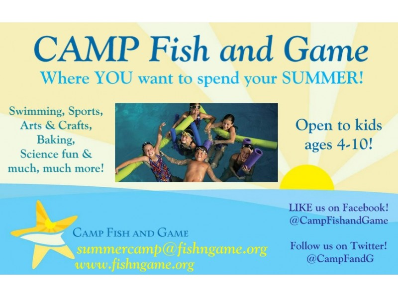 Camp fish and game summer camp for kids ages 4 10 in for Nj fish and game