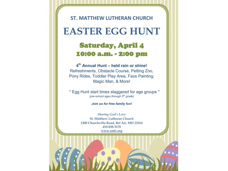 Family Easter Egg Hunt Fun St Matthew Bel Air Md Patch