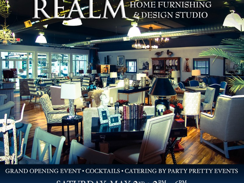 realm home furnishing design studio grand opening event