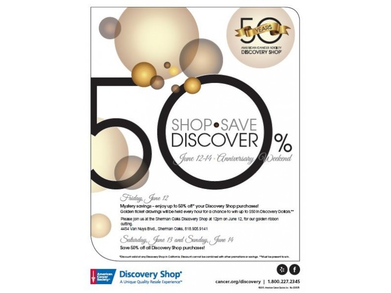 American cancer society discovery shop 39 s 50th anniversary for Discovery 24 shop