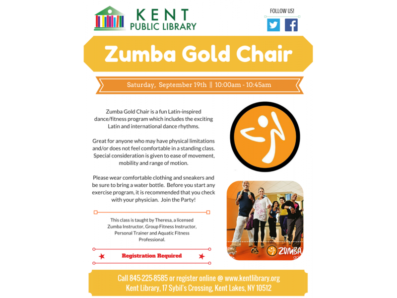 Zumba gold chair with theresa at the kent public library for Chair zumba