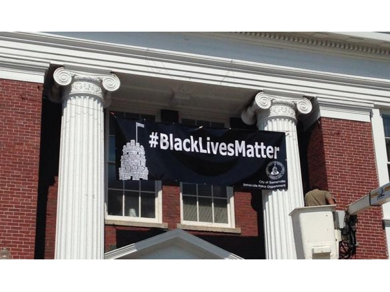 'Black Lives Matter' Banner Now Hangs from Somerville City Hall