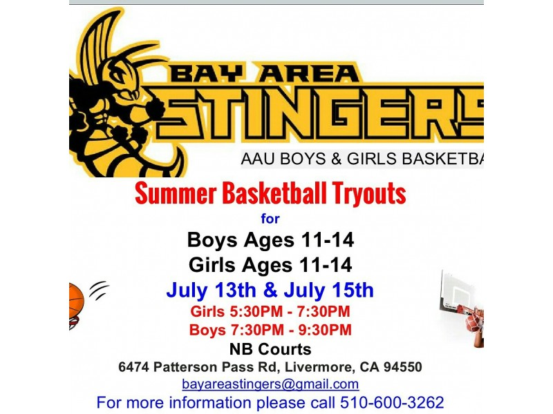 Bay Area Stingers AAU Basketball Tryouts | Livermore, CA Patch