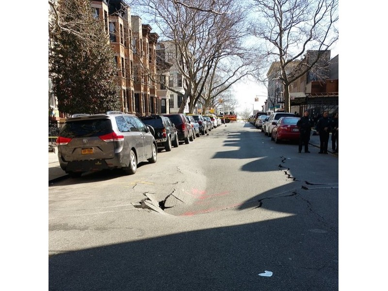 PICS: Insane Brooklyn Sinkhole Is 2 Seconds From Devouring Your Kids