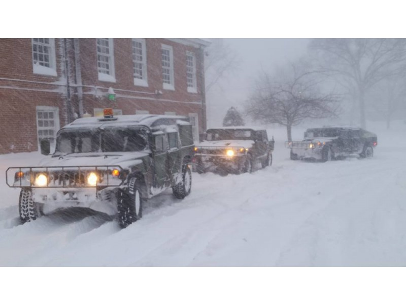Hummers Deployed in Westfield to Navigate Blizzard