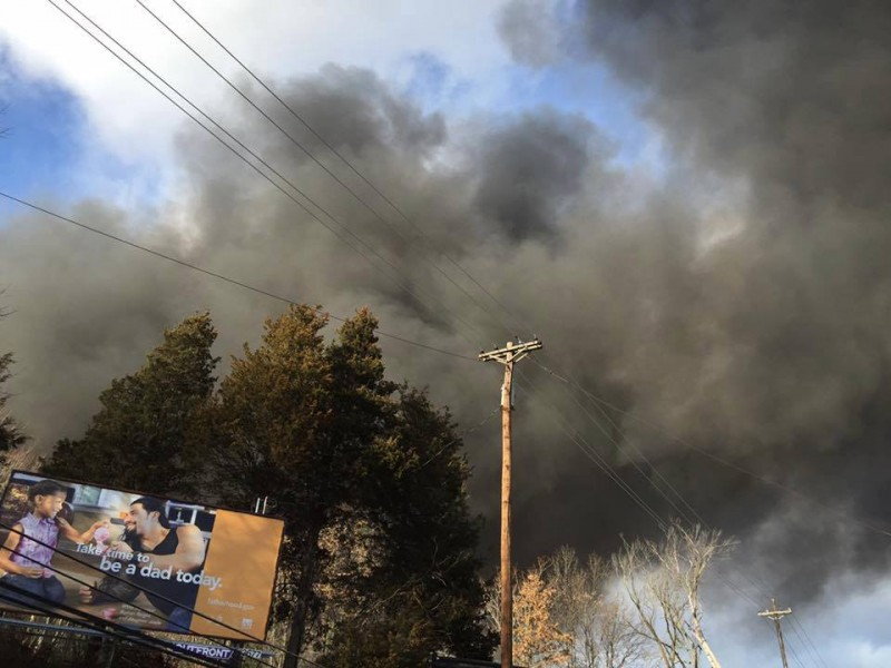 Massive New Jersey warehouse fire burning out of control